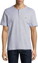 Lacoste Double-Face Cotton Short-Sleeve Henley T-Shirt
