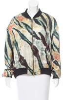 Baja East Silk Bomber Jacket