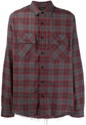 Amiri plaid long-sleeve shirt