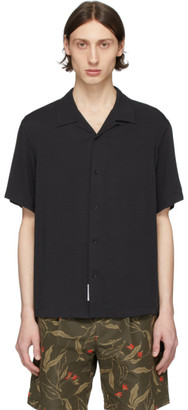 Rag & Bone Black Avery Short Sleeve Shirt