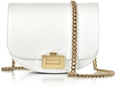 Victoria Beckham Optic White Leather Box With Chain Shoulder Bag