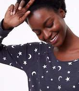 LOFT Foil Moon & Star Textured Tee