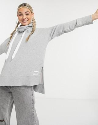 Calvin Klein set funnel neck hoodie in gray