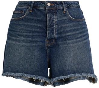 Good American Frayed Bombshell Shorts