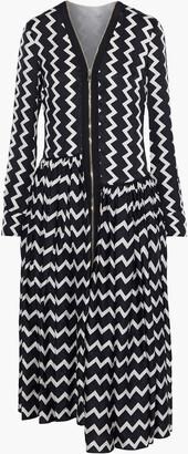 Stella McCartney Sage Asymmetric Striped Silk-satin Jacquard Midi Dress