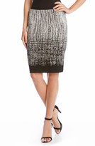 Karen Kane Women's Stripe Jacquard Knit Pencil Skirt