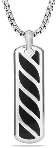 David Yurman Graphic Cable Ingot Tag w/Black Onyx