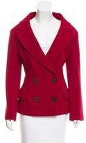 Prada Double-Breasted Wool Blazer