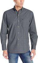 Izod Men's Long Sleeve Essential Windowpane Shirt