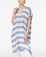 Eileen Fisher Organic Linen Caftan Top Petite