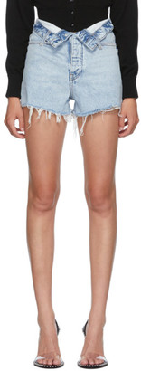 Alexander Wang Blue Flip Bite Shorts