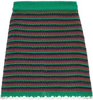 Miu Miu crocheted A-line skirt