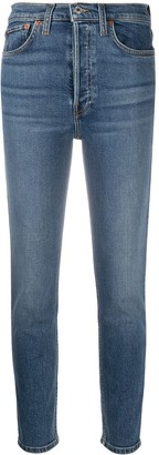 RE/DONE Cropped Straight-Leg Jeans