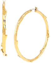 Diane von Furstenberg Twigs and Links Large Twig Hoop Earring
