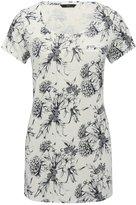 M&Co Floral print longline jersey top