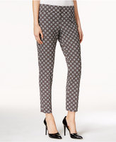 Nine West Printed Straight-Leg Ankle Pants