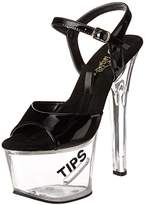 Pleaser USA Women's Tipjar-5/B/BG Platform Sandal,