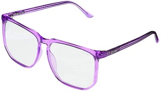 Quay Stranger- Blue Light (Purple/Clear Blue Light) Fashion Sunglasses