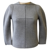 Balenciaga Grey Viscose Top