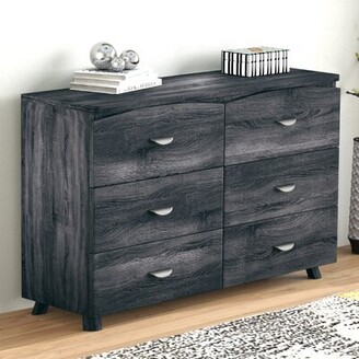 Bronx Clore Spacious 6 Drawer Double Dresser Ivy