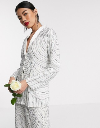 Beauut Bridal embellished jacket co ord