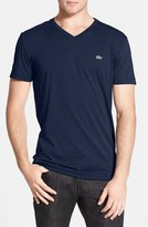 Lacoste Pima Cotton Jersey V-Neck T-Shirt