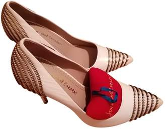 Jean-Michel Cazabat Jean Michel Cazabat White Leather Heels
