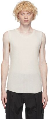 System White Wool Ribbed Tank Top