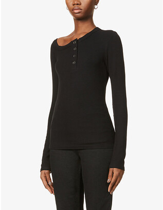 The Line By K Harley scoop-neck stretch-jersey top