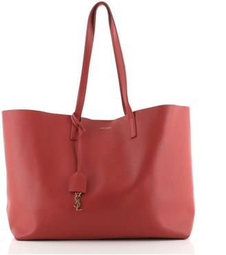 Saint Laurent Shopper Tote Leather Large