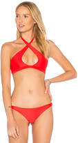 Mikoh Tahaa Halter Top in Red. - size L (also in M,S,XS)