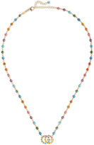 Gucci 18-karat Gold Multi-stone Necklace - one size