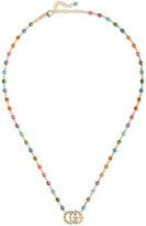 Gucci 18-karat Gold Multi-stone Necklace