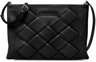 Miu Miu Zipped Woven Clutch