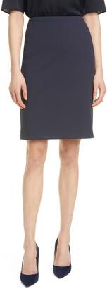 HUGO BOSS Vikena Herringbone Texture Skirt