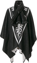 Moncler oversized padded collar cape - women - Polyamide/Wool - One Size