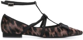 Anna Baiguera leopard print ballerinas