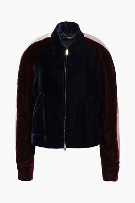 Stella McCartney Appliqued Color-block Velvet Jacket