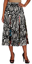 As Is Susan Graver Printed Cotton Eight Gore Pull-on Skirt
