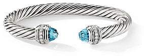 David Yurman Women's Cable Classics Sterling Silver, Diamond and Gemstone Cable Bracelet