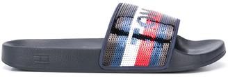 Tommy Hilfiger Sequin-Logo Pool Slides