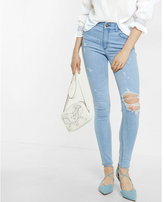 Express high waisted destroyed ankle jean legging