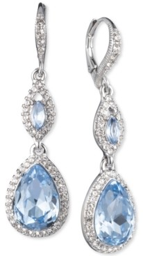 Givenchy Crystal & Stone Double Drop Earrings