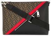 Fendi panelled FF logo messenger bag