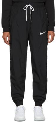 Nike Black Woven Swoosh Lounge Pants