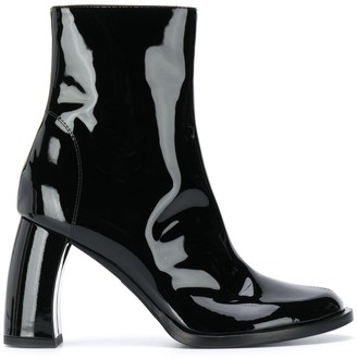 Ann Demeulemeester Ankle Length Patent Boots