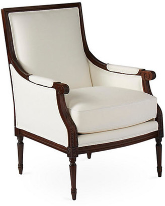 One Kings Lane James Accent Chair - White Linen