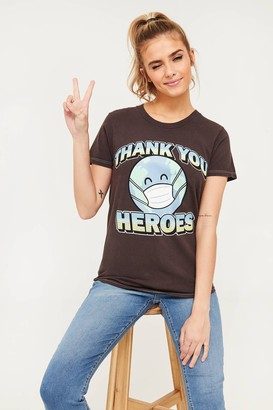 Ardene Thank You Heroes Graphic Tee