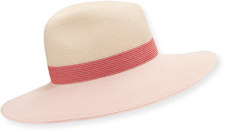 Eugenia Kim Emmanuelle Colorblock Wide Brim Fedora Hat