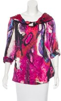 Escada Printed Long Sleeve Blouse